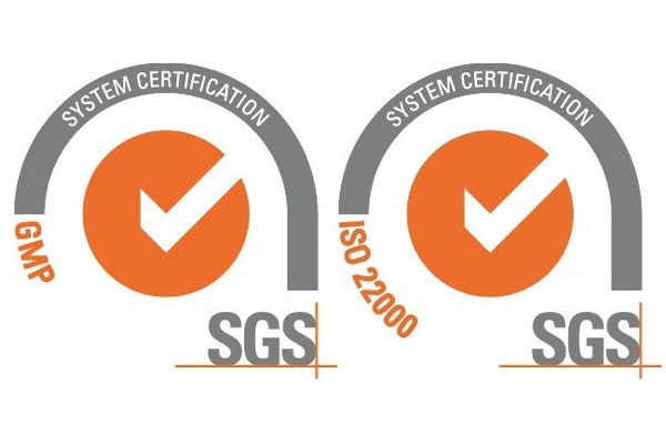 ISO22000 certification and GMP